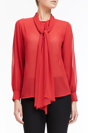 Ariel Shirt - Bright Red