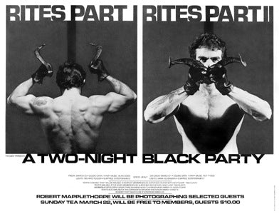 Poster 1981, The Black Party feat photographer Robert Mapplethorpe