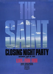 Poster 1985 Saint Closing Night Party
