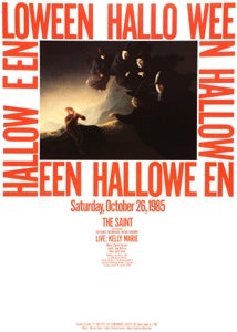 Poster 1985 Halloween Party The Saint