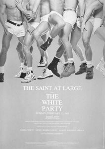 Poster 1991 The White Party, Photo by David Morgan