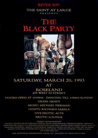 Poster 1993 The Black Party