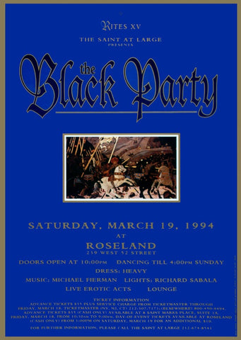 Poster 1994 The Black Party