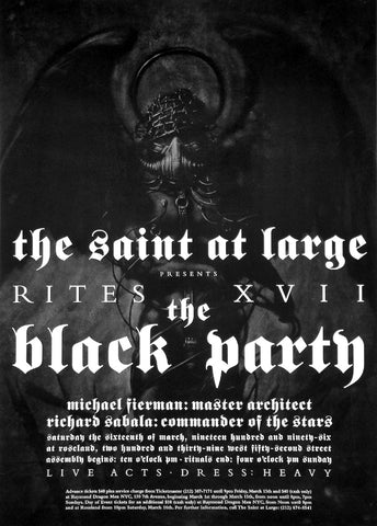 Poster 1996 The Black Party, The Saint at Large