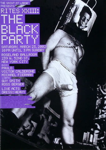 Poster 2002, The Black Party, The Saint at Large