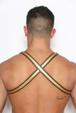 "Crossed Back 1"" Gold Half-Harness"