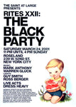 Poster 2001, The Black Party,  RITES XXII