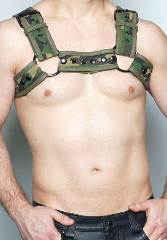 Camo Bulldog Half Harness