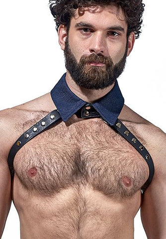 Denim Collar Half-Harness