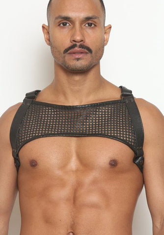 Mesh Leather Half-Harness