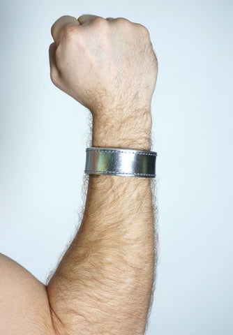 SILVER LEATHER BRACELET REGULAR