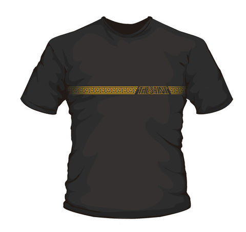 Saint T-Shirt-Gold  Roman Border