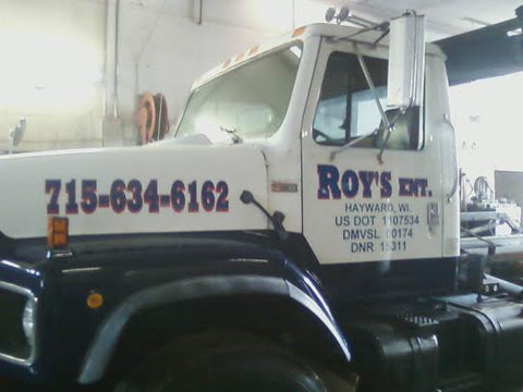 Custom Made Truck Decals Blue Lettering With A Red Accent Door - Truck decals custom