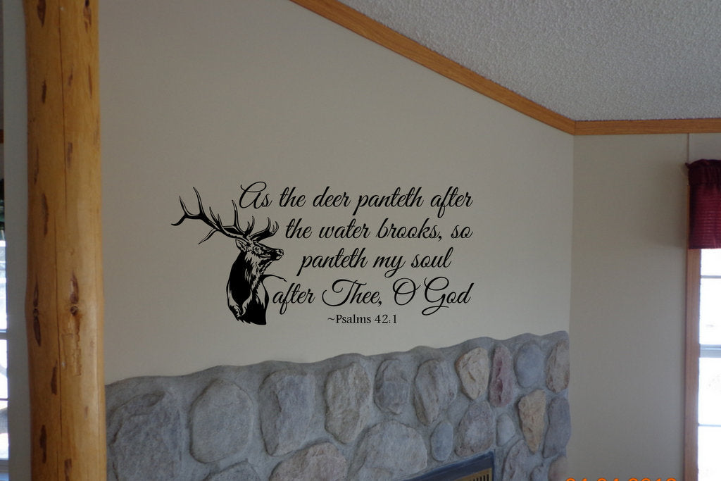 Custom Vinyl Wall Lettering Signs Decal Art Graphics As The Deer - Custom vinyl wall decals deer