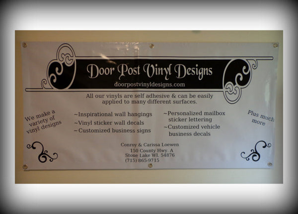 Custom Vinyl Wall Lettering Signs Decal Art & Graphics Customized Banners (2 feet by 4 feet)