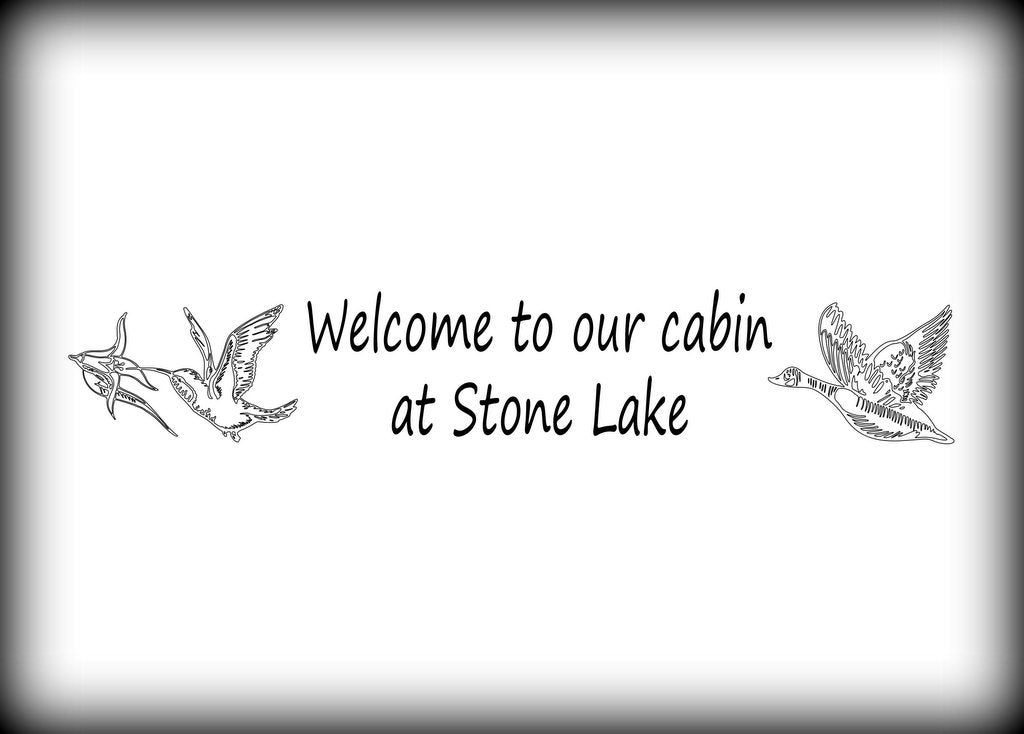 custom vinyl wall lettering signs decal art graphics customized welcome to our cabin wall decal