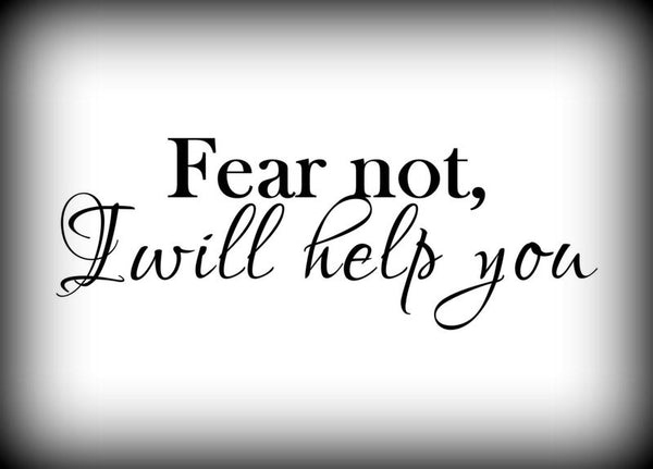 Custom Vinyl Wall Lettering Signs Decal Art & Graphics Fear not I will help you    Isaiah 41:10