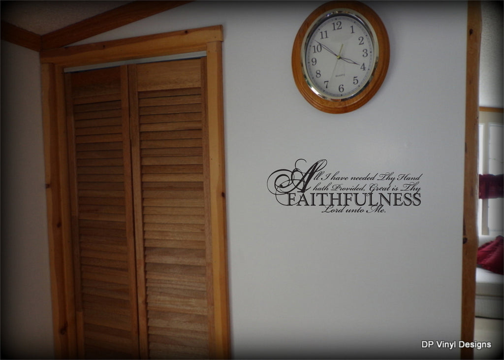 Custom Vinyl Wall Lettering Signs Decal Art  Graphics All I Have - Custom vinyl decals for wood
