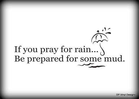 Custom Vinyl Wall Lettering Signs Decal Art & Graphics If you pray for rain...