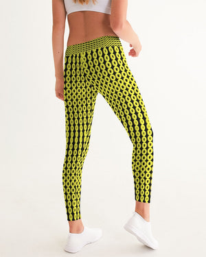 Yellow Circle Yoga Pant - queenies a la mode