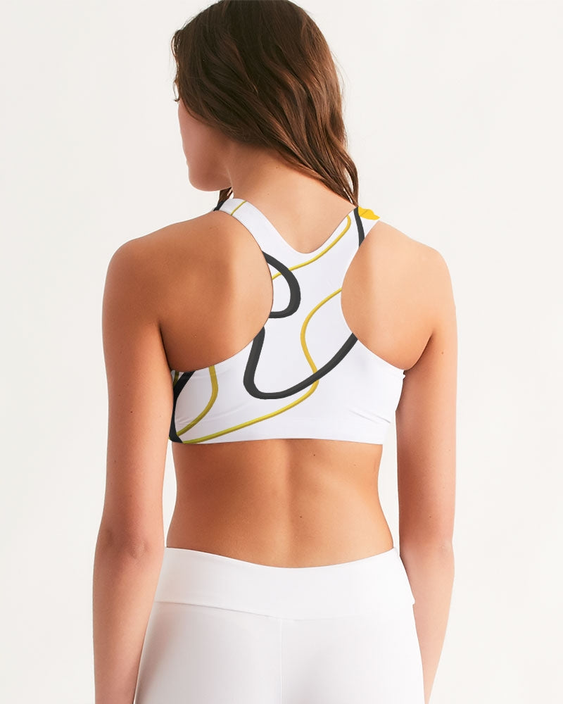 Black and Yellow Women's Seamless Sports Bra