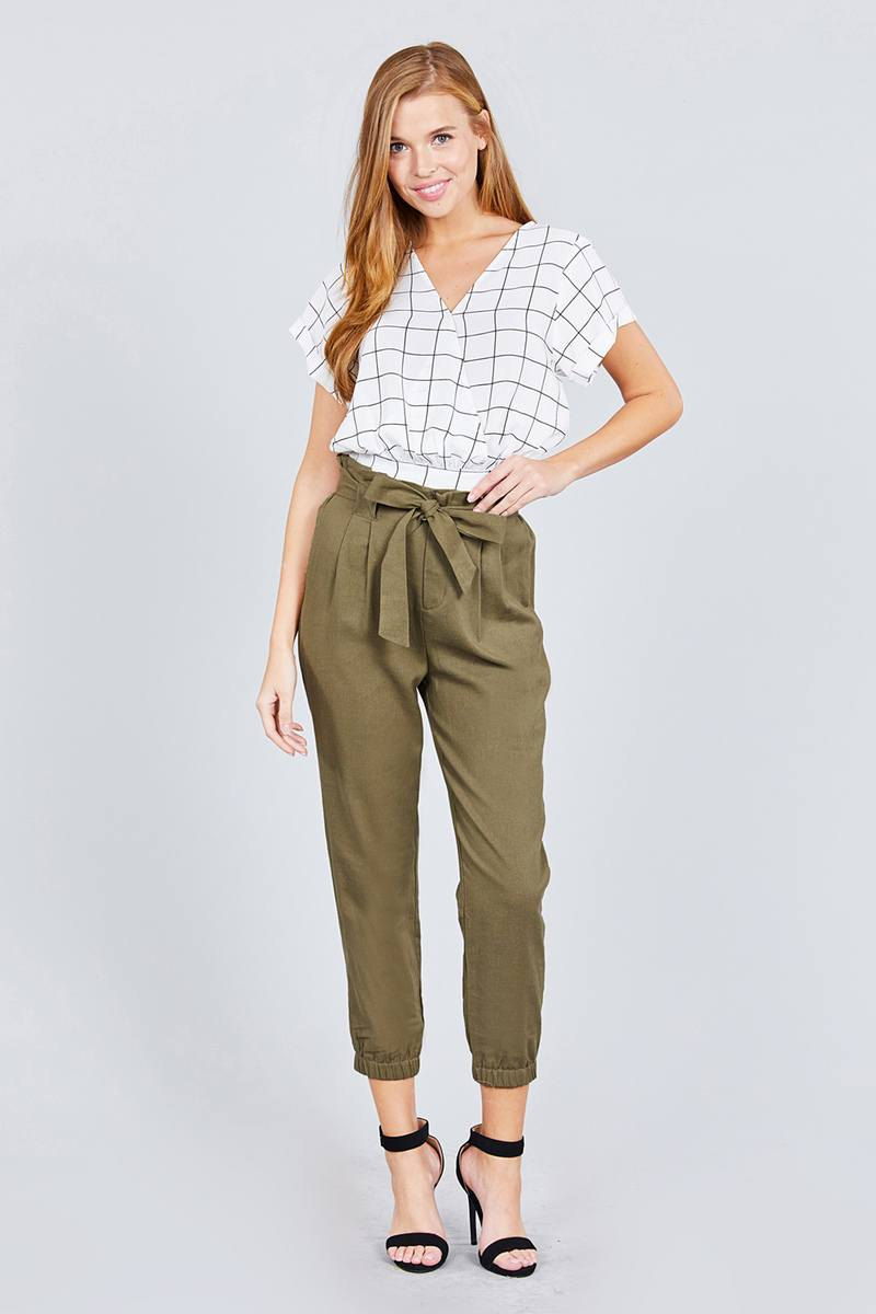 Paperbag bow Pants