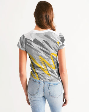 Yellow Streak Print Women's Tee