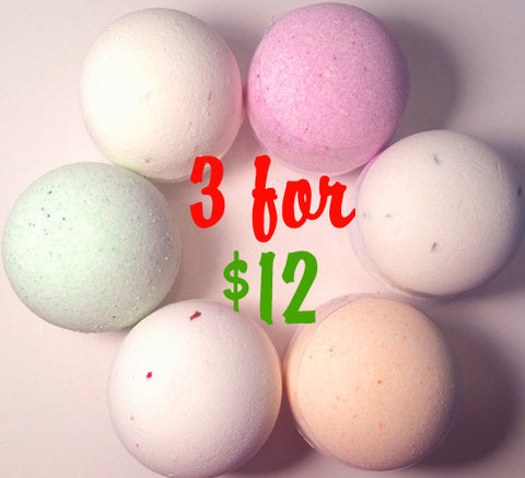 3 Bath Fizzies for $12