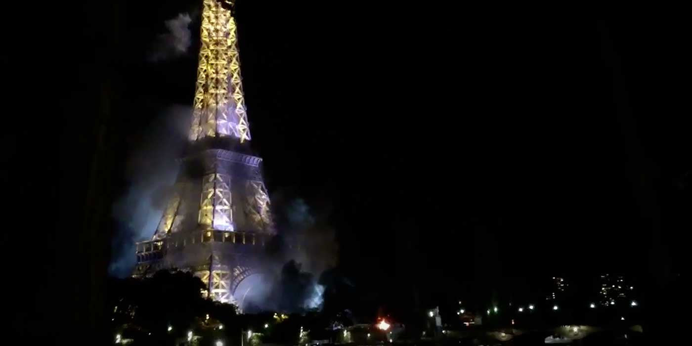 BREAKING: FIRE AT EIFFEL TOWER (VIDEO)