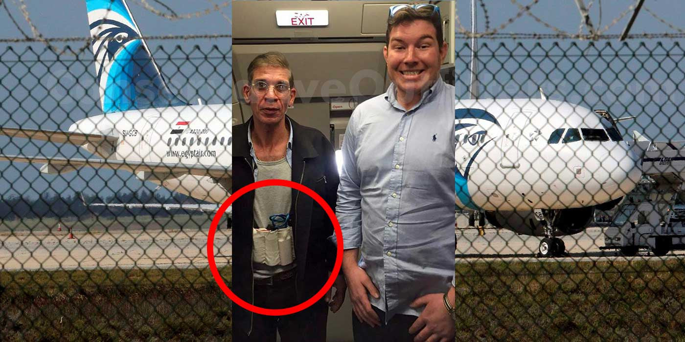 Hostage Takes Selfie With Hijacker Wearing Suicide Vest