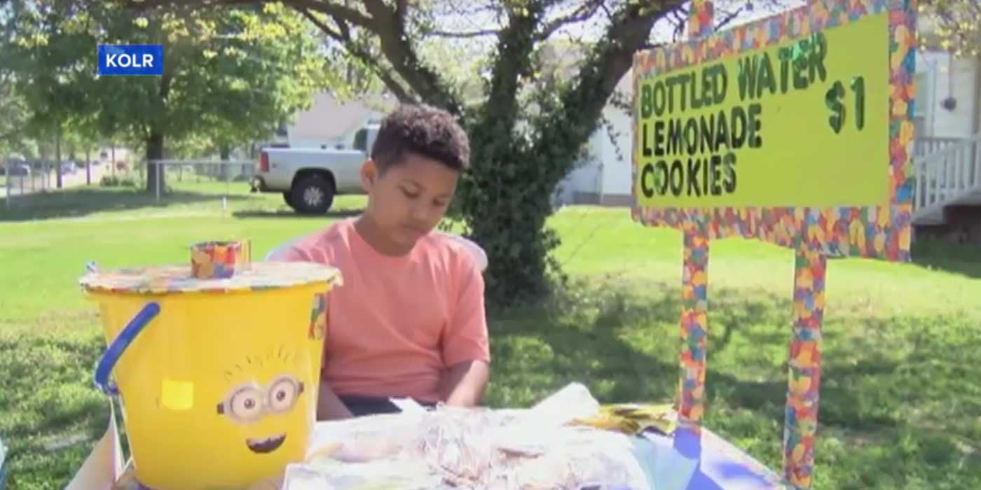 Boy Selling Lemonade To Pay For His Own Adoption...