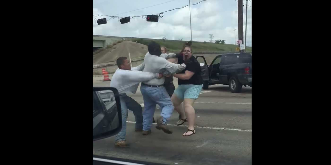Brutal Houston Texas Road Rage Brawl Caught On Camera