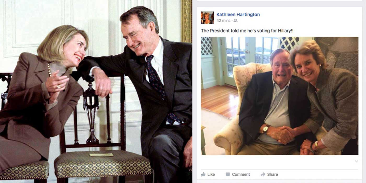 CONFIRMED: George H.W. Bush is voting for Hillary Clinton