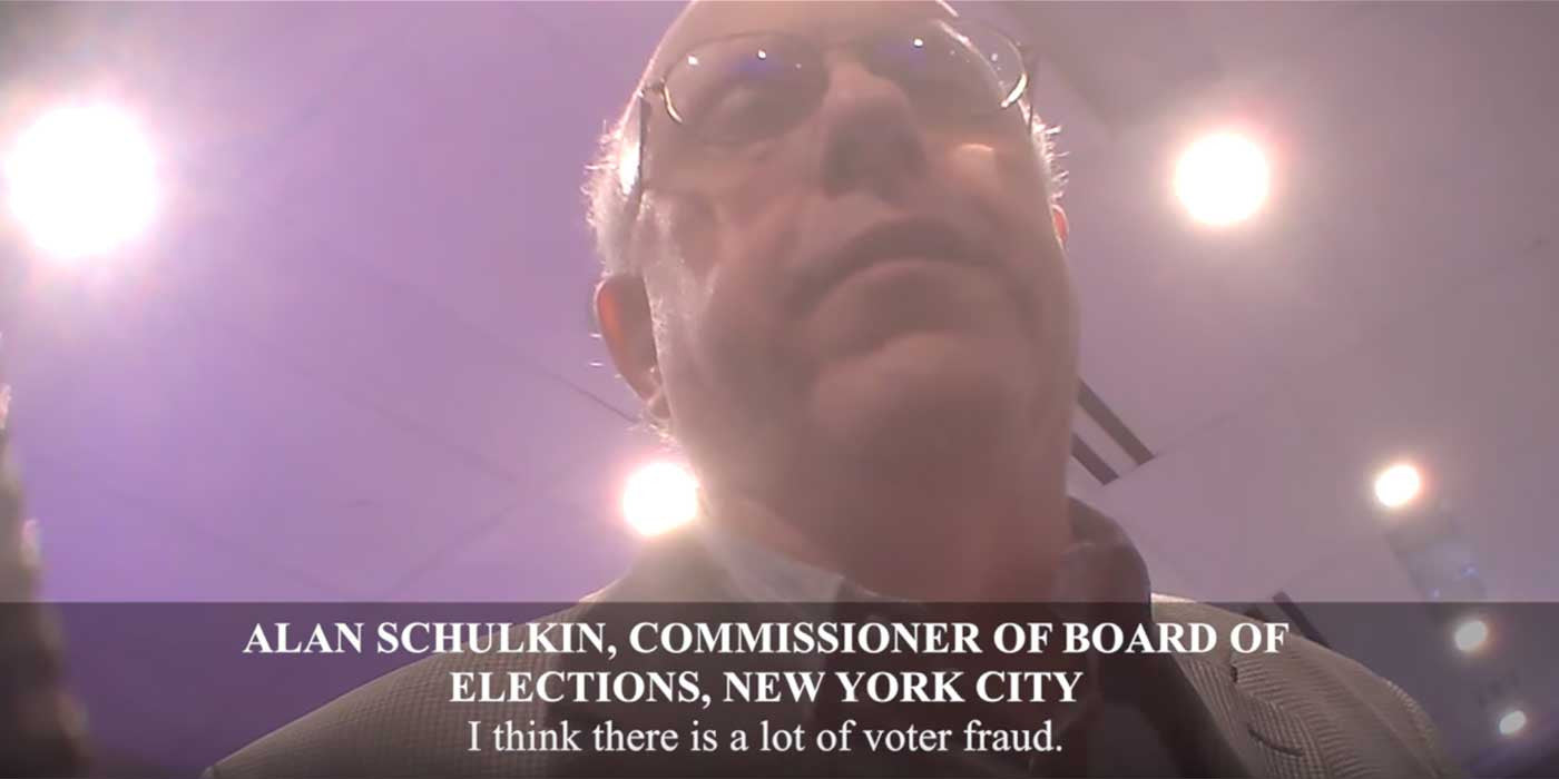 "HIDDEN CAM: NYC Democratic Election Commissioner, ""Lots of Fraud"""