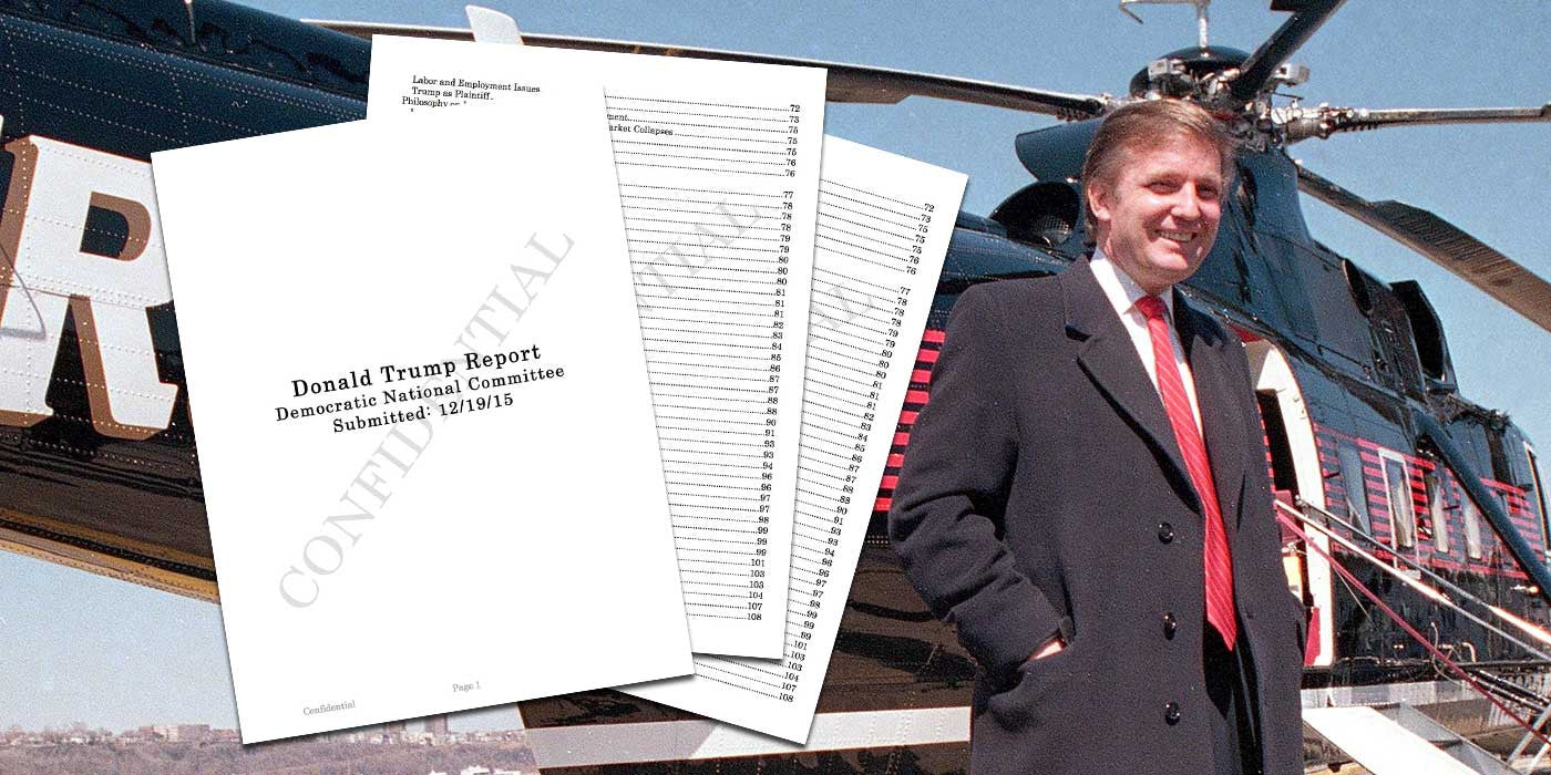 Hacker Leaks 237 Page Democratic Party Opposition File On Donald Trump