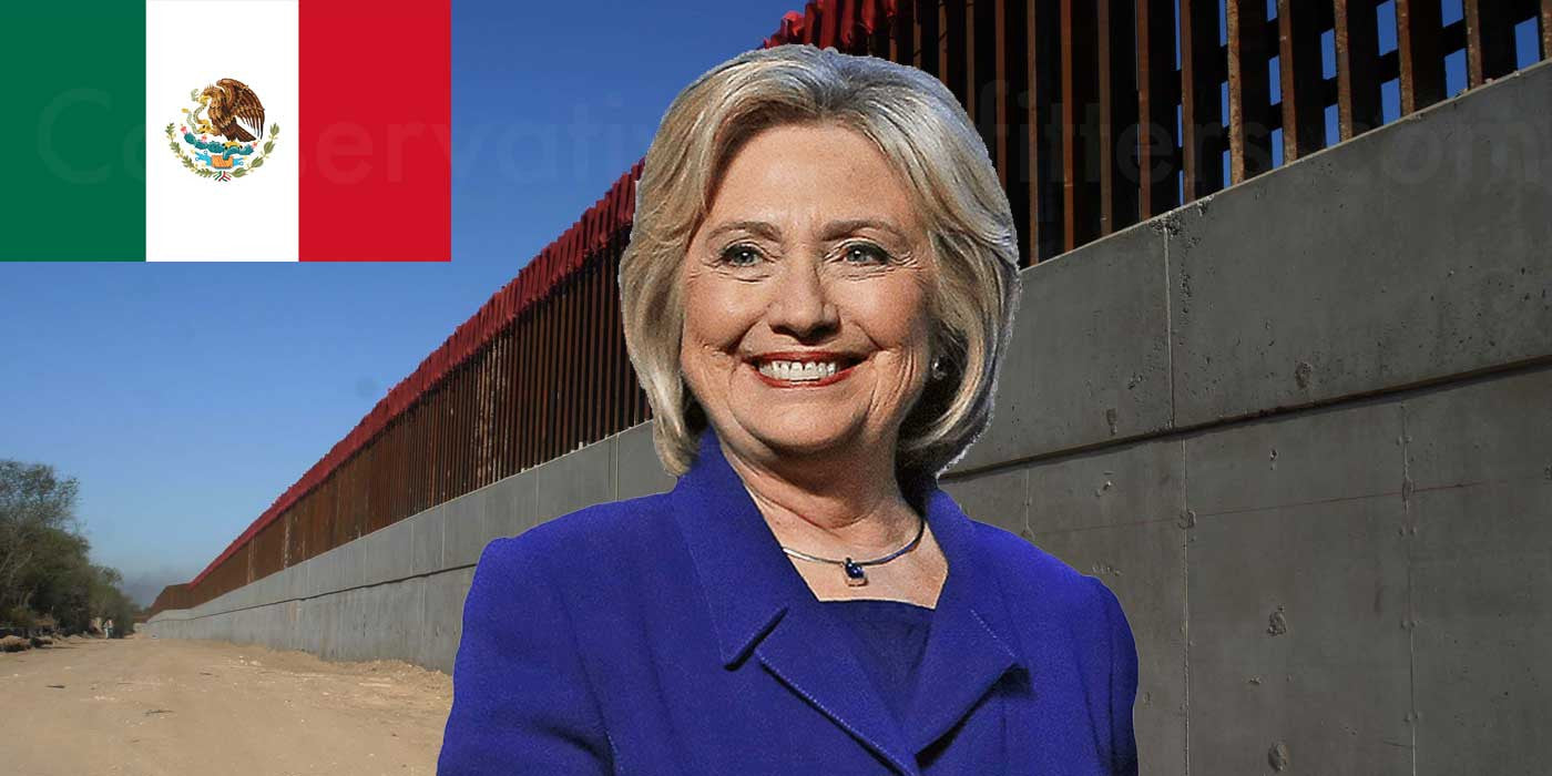 Hillary Clinton Brags About Voting For Border Wall