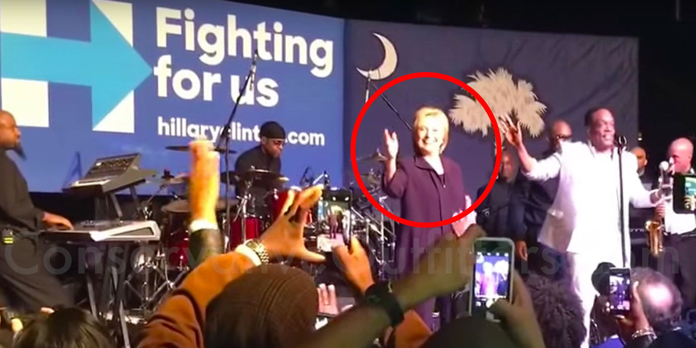 WARNING: Video of Hillary Clinton Dancing at Rally