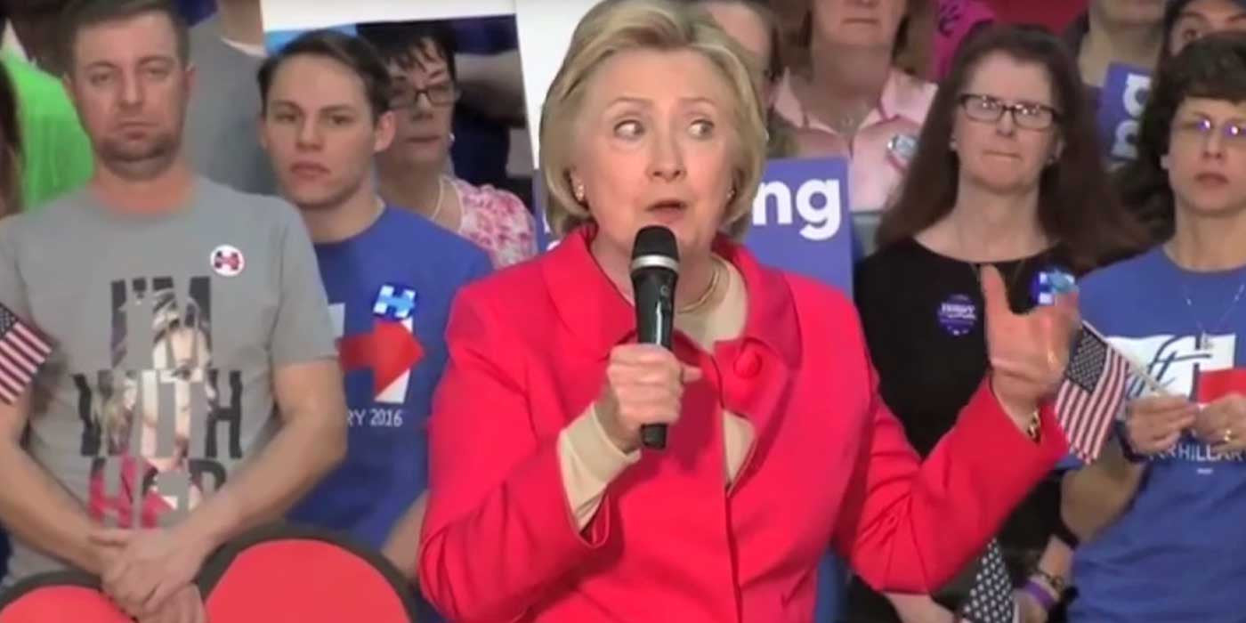 Hillary's Mind Goes Blank Mid-Sentence While Speaking