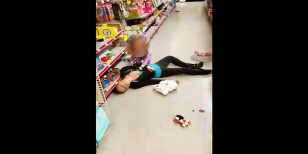Horrible video shows a mom overdosing in toy aisle at Family Dollar