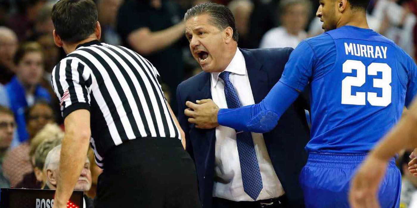 WATCH: Kentucky coach John Calipari ejected 2 minutes into game vs. SC