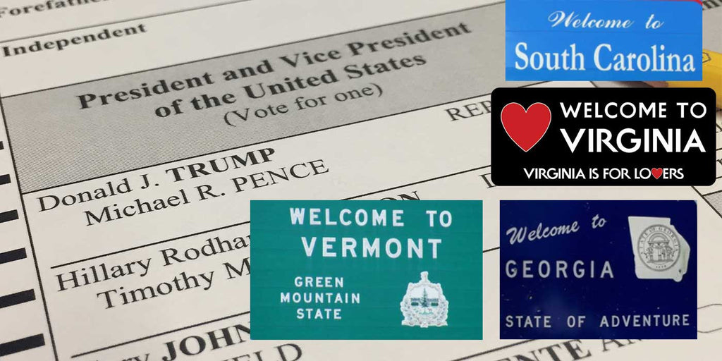 LIVE Presidential Election Results: GA, SC, VT, VA (2016)