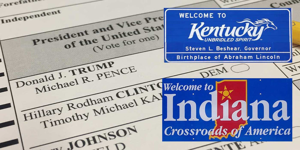 LIVE Presidential Election Results: Kentucky and Indiana (2016)