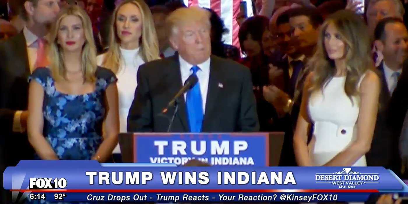 LIVE: Donald Trump's Indiana Victory Speech