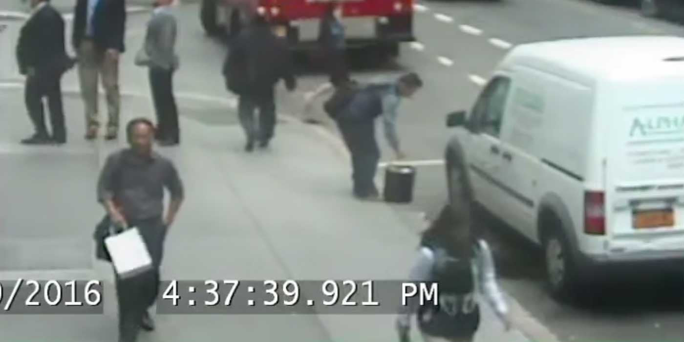 Man caught on camera casually stealing $1.6 MILLION bucket of gold in NYC