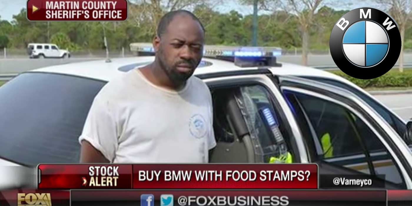 Man steals BMW after trying to buy it with food stamps
