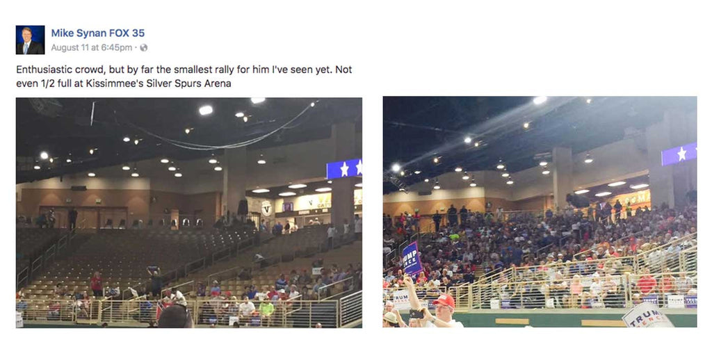 Media Caught Lying About The Crowd Size Of Donald Trump Rally?