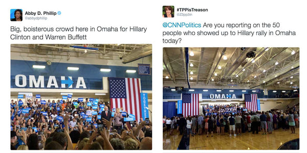Media Caught Lying About The Crowd Size Of Hillary Clinton Rally?