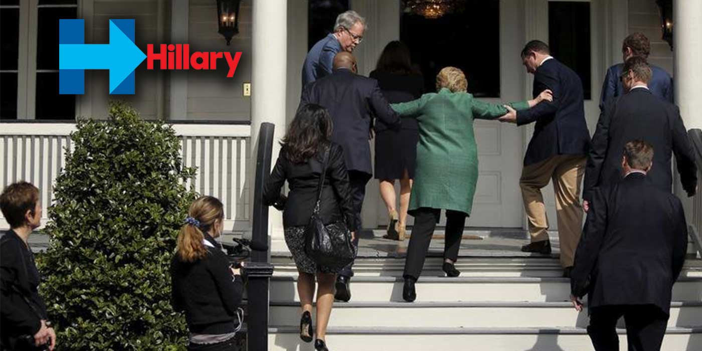 New Hillary Clinton Photos Reveal She Needs Help Climbing Stairs