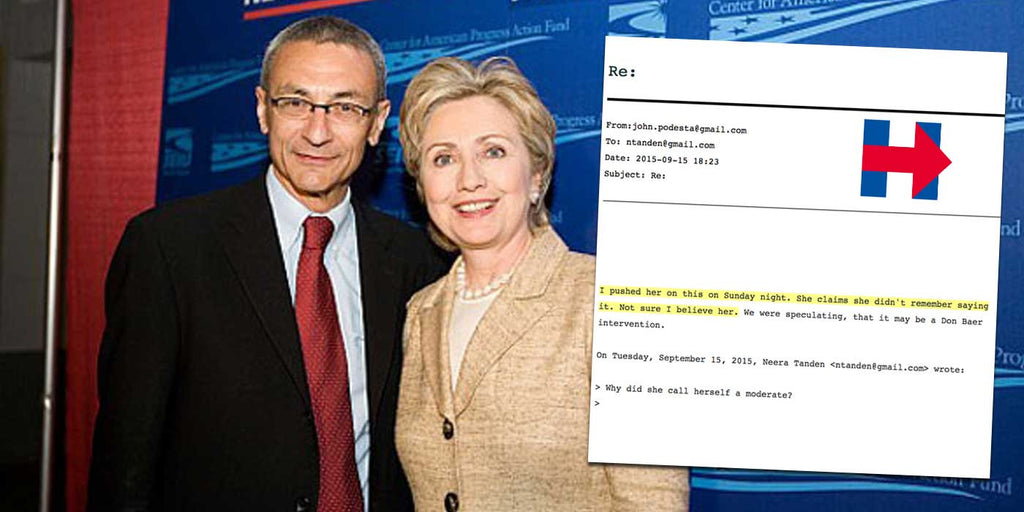 Not even Hillary Clinton's campaign chief John Podesta believes her