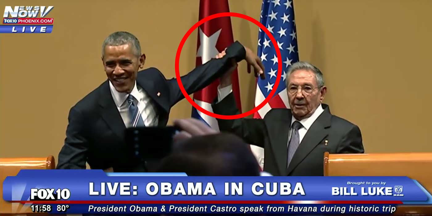 President Barack Obama is submissive to Cuba's Castro